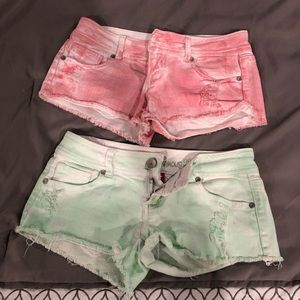 Set of 2 jean shorts